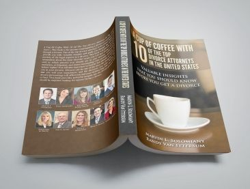 Copy of A Cup of Coffee with 10 of the Top Divorce Attorneys in the United States faced down on table